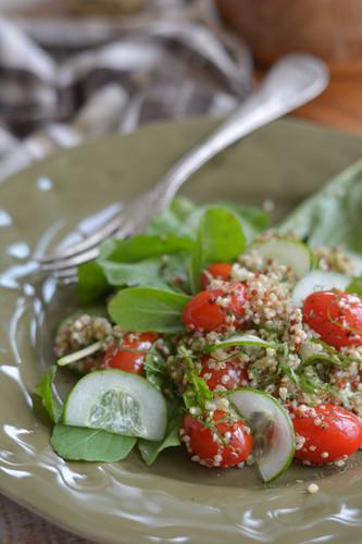Salada de Quinoa com Rúcula