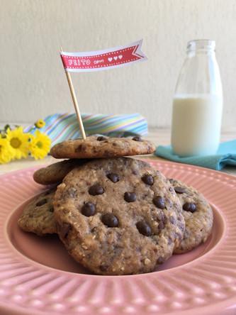 Cookies De Chocolate com Castanha de Caju