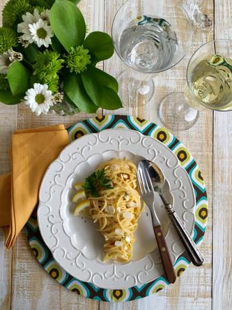 Espaguete ao Molho de Limão Siciliano e Amêndoas