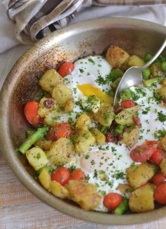 Frigideira de Legumes com Ovos