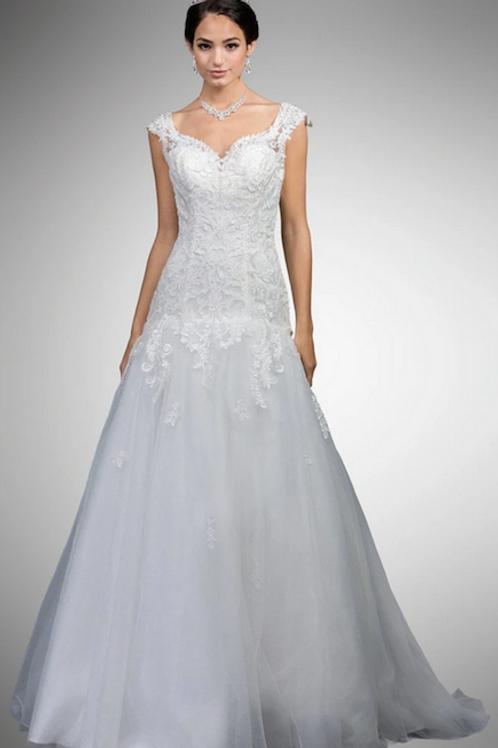Dancing Queen - BA70049 Lace Applique Sweetheart Trumpet Wedding Gown
