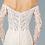 Thumbnail: GLS - B18017 Embroidered Mesh Mermaid Wedding Gown w/Sheer Back