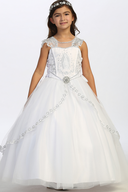 Tip Top Kids - R11919 Split Lace Skirt with Sequins and Maria on Bodice