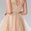 Thumbnail: Elizabeth K - M23759 Lace Illusion Top A-Line Short Dress with Beaded Waist