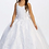Thumbnail: Tip Top Kids - R11949 First Communion Dress with Organza Overlay Tail