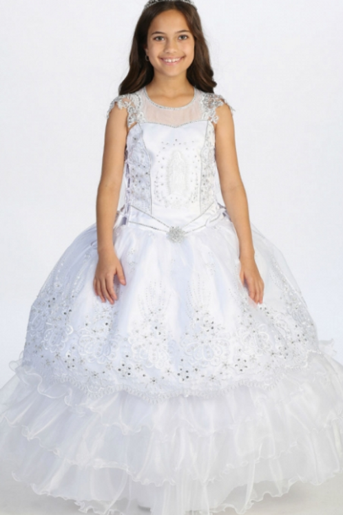 Tip Top Kids - R11869 2 Piece Beaded Organza First Communion Dress