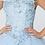 Thumbnail: Elizabeth K - M28024 Floral Embroidery and Jewel Embelished V-neck Mesh Gown