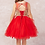 Thumbnail: Tip Top Kids - Q70139 Short Pageant or Easter Dress with Gold Lace