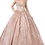 Thumbnail: Dancing Queen - L13979 Sweetheart Bodice Gold Accented Ball Gown w/Bead Fringe