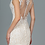 Thumbnail: GLS - W18024 Embroidered Mesh Illusion V-neck Mermaid Gown w/Lace