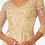 Thumbnail: Elizabeth K - H29254 Embroidered Bodice V-Neck Chiffon Dress w/Sheer Back