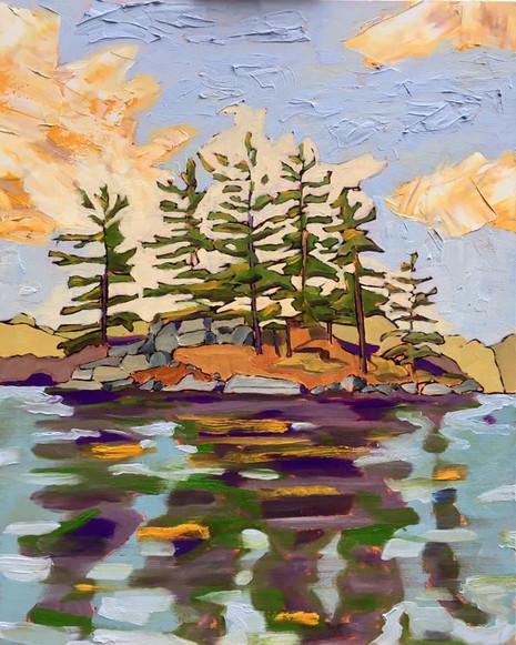 Island, Skeleton Lake