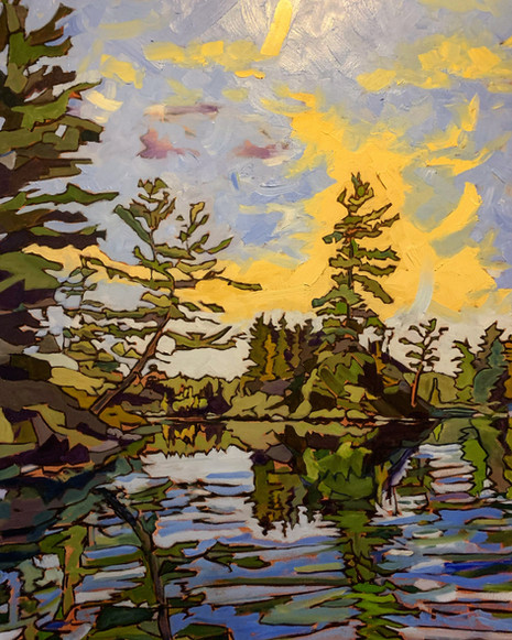 The Island Pines, Reflected, Round Lake