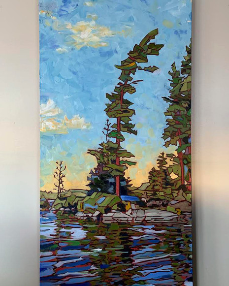 Lone Pine at Sunset. Round Lake, Algonquin Park