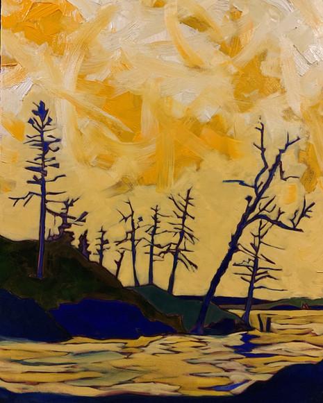 Sunset, Round Lake