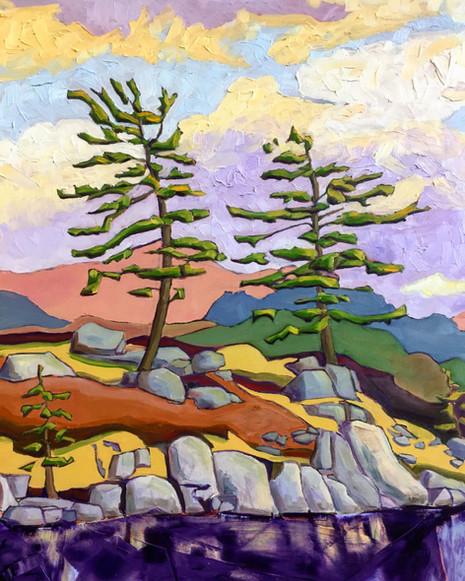 Two Pines, Skeleton Lake