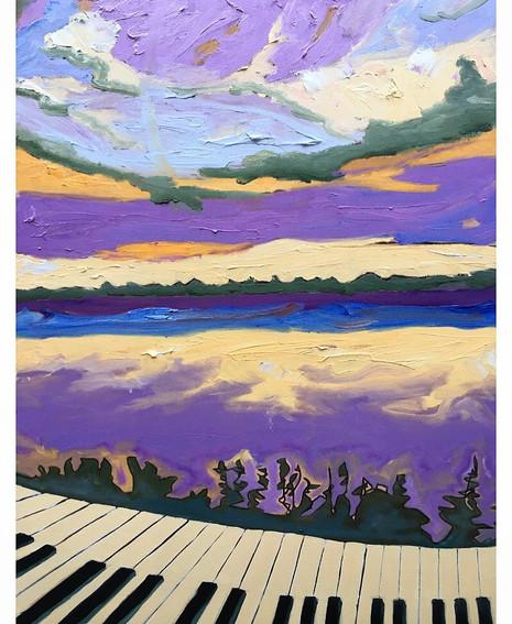 Piano Sunrise, Lake Couchiching