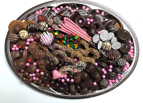 Welcome Baby Girl Chocolate Platter