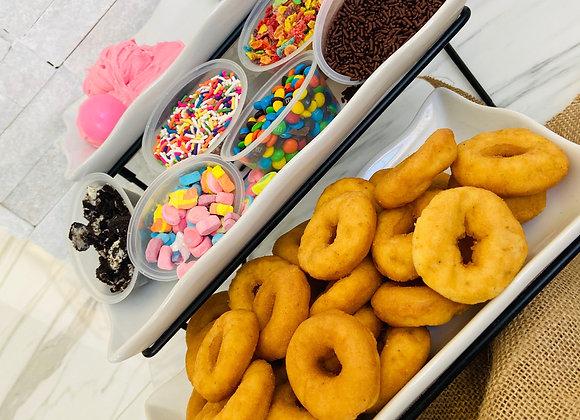 Sprinkle Dip Donut Kit - Pink & Blue Frosting