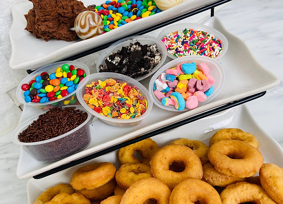 Sprinkle Dip Donut Kit - Chocolate & Vanilla Frosting