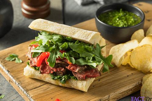 Steak & Arugula Sandwich