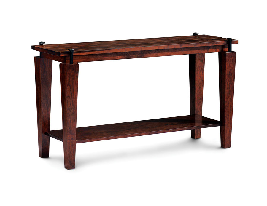 B&O Railroad Spike Sofa Table Bourbon