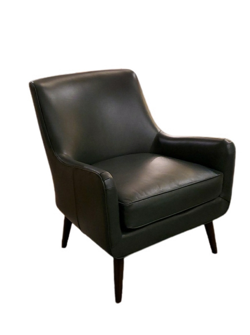 Phoebe Chair Green Leather