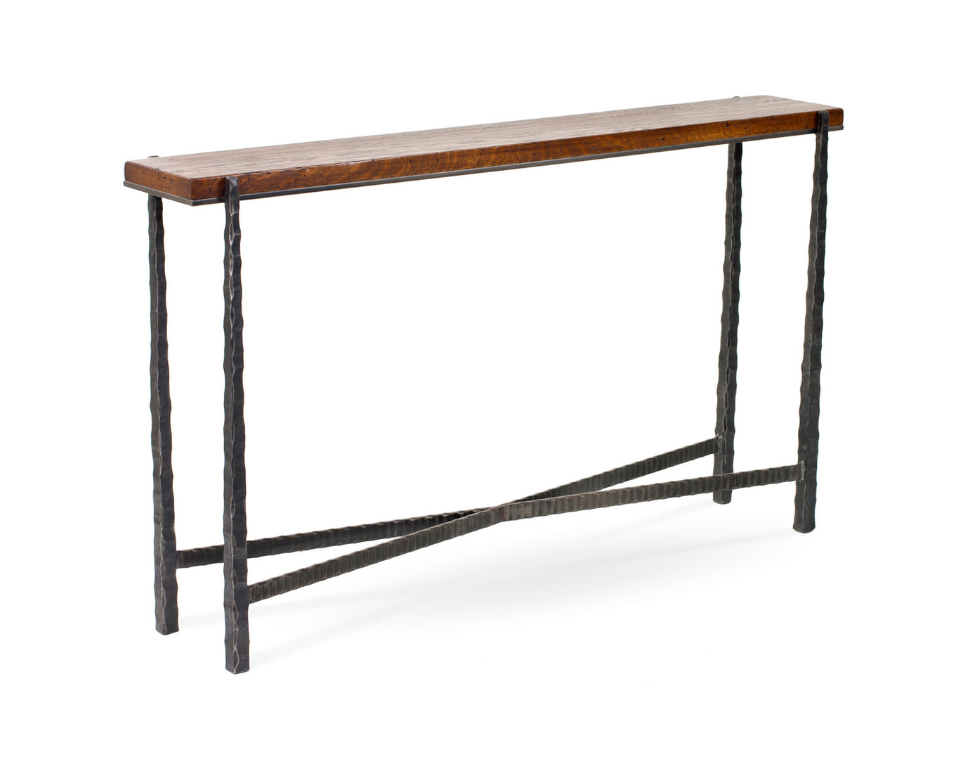 Nash Console Charcoal Metal Nutmeg