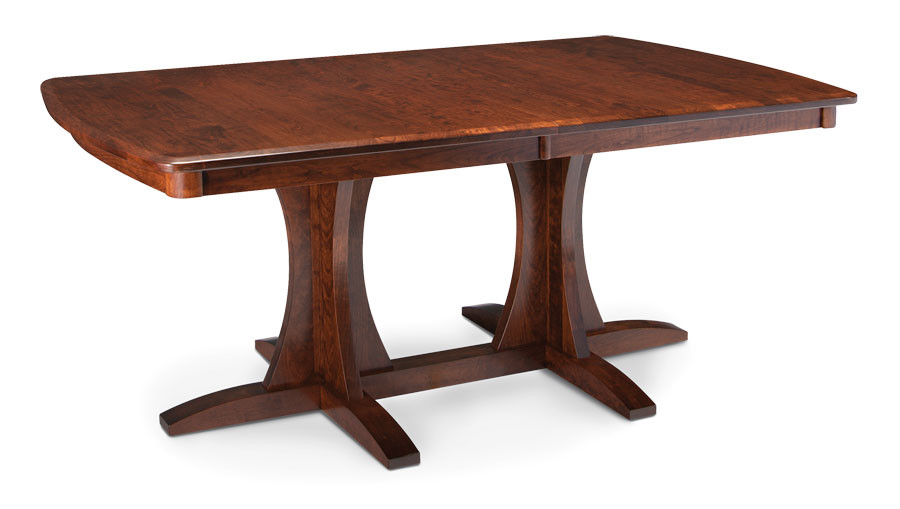 Grace Double Pedestial Table Cherry Bourbon