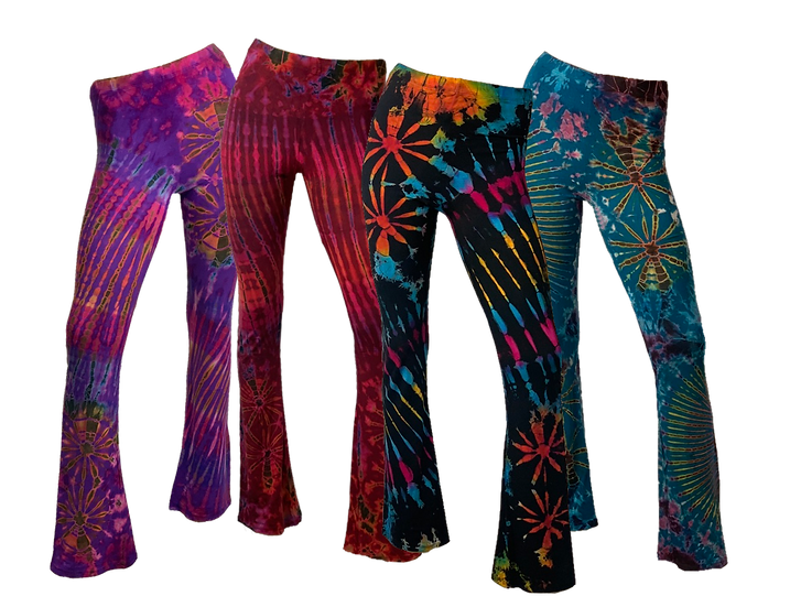 Tie Dyed Bootleg Flares