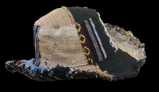 Patchwork Wide Brim Hemp Hat