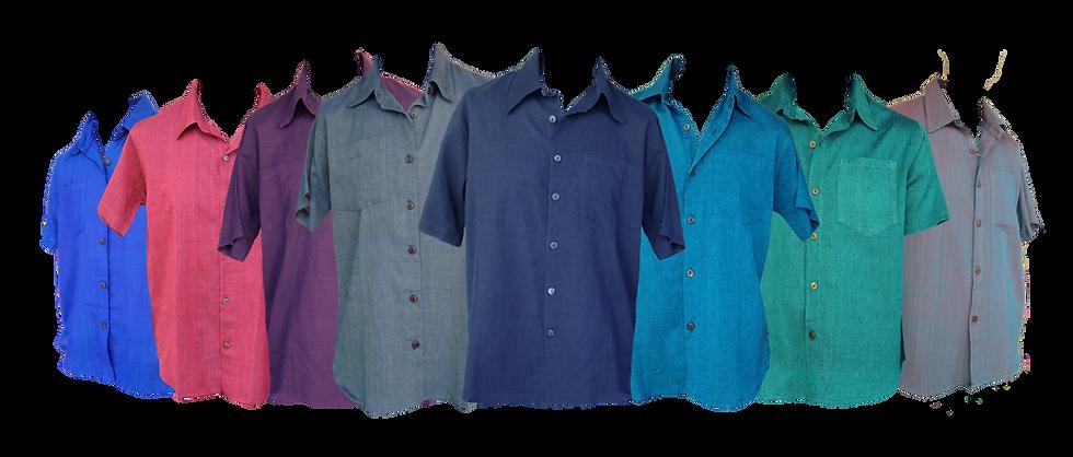 Plain Collared Short Sleeve Shirt