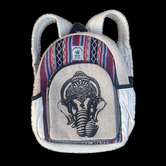 Small Ganesh Hemp Backpack