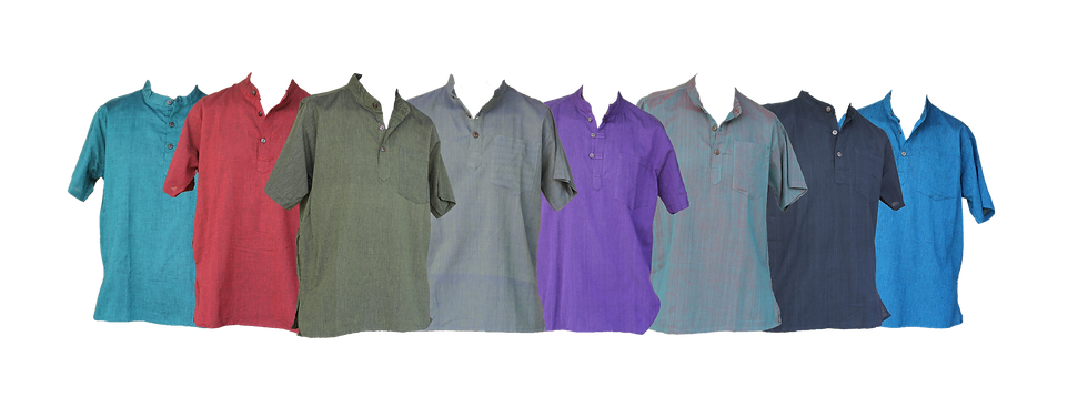 Plain Short Sleeve Kurtha Shirt