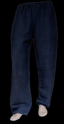 Black Heavy Cotton Pants