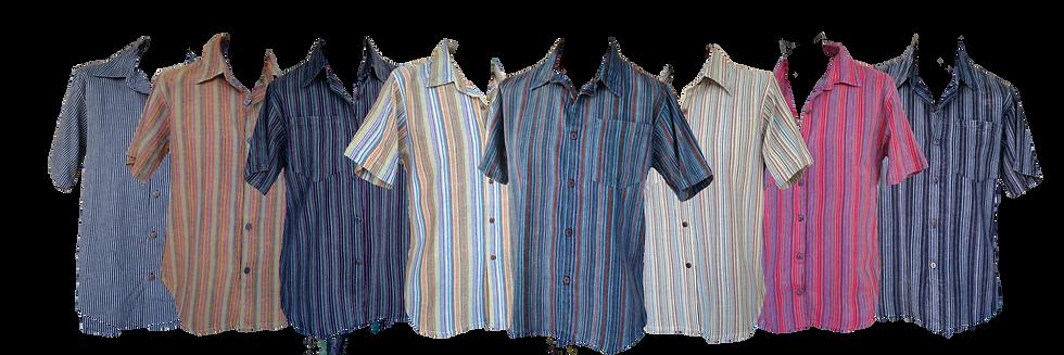 Pinstripe Collared Short Sleeve Shirt