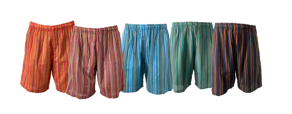 Pinstripe Drawstring Shorts