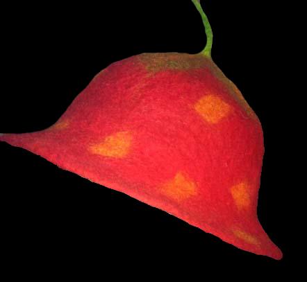 Red Strawberry Felt Hat