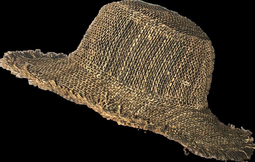 Black Wide Brim Hemp Hat