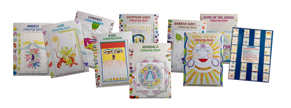 Spiritual Tibetan Colouring Books