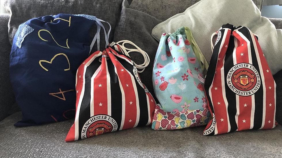Drawstring Pump/Ballet shoes/football boots Bag
