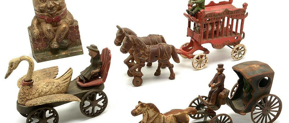 Vintage Cast Iron toys and Banks