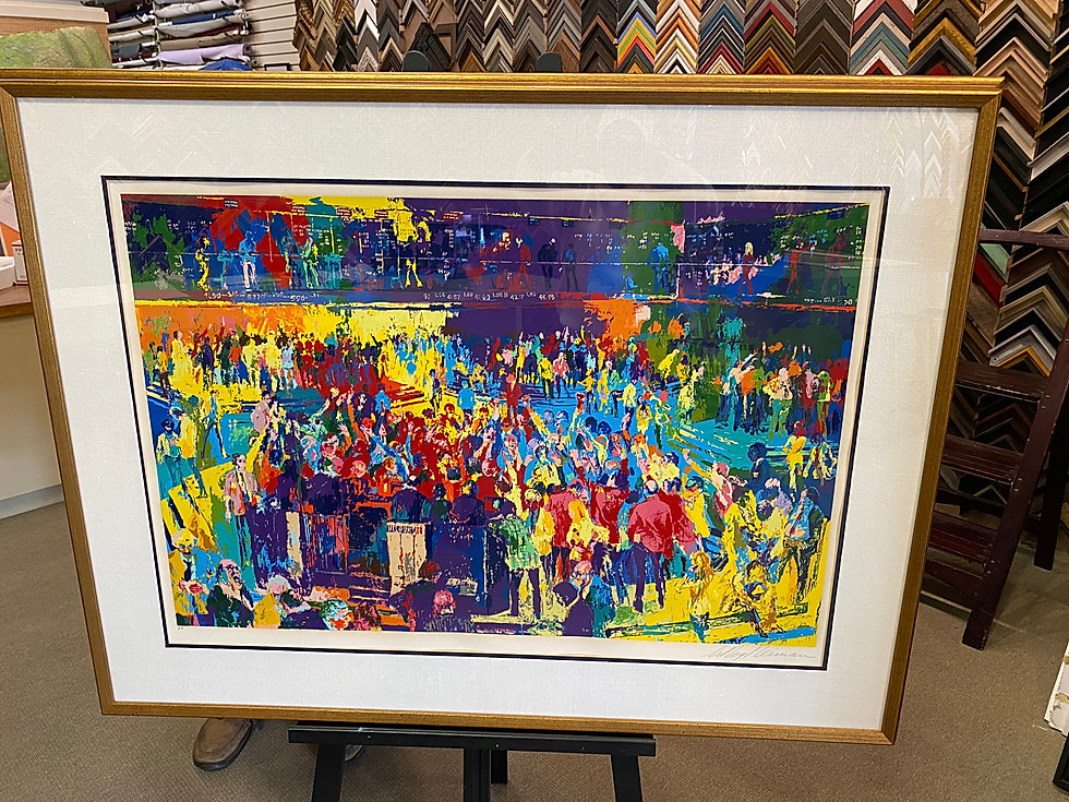 Leroy Neiman Chicago Board of Trade approx dimensions framed 38' x 51'