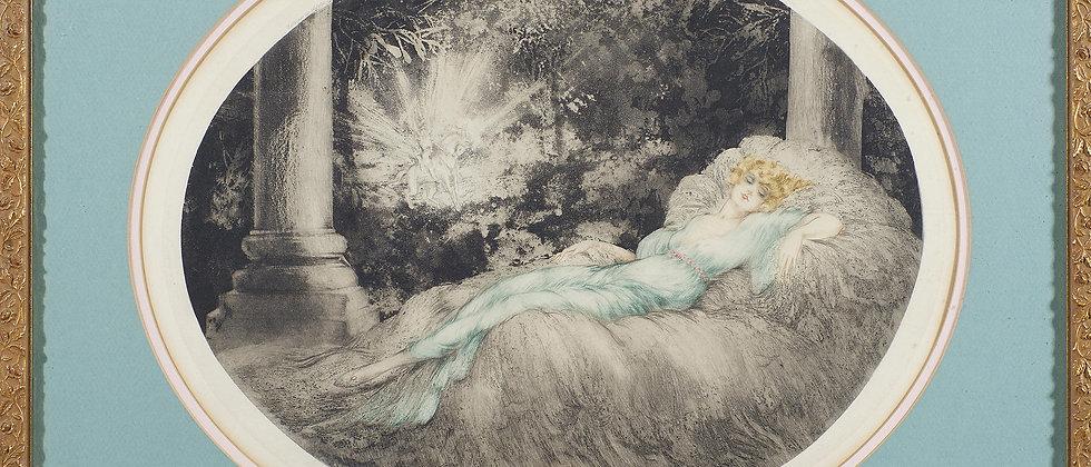 """Louis Icart """"Sleeping Beauty"""""""