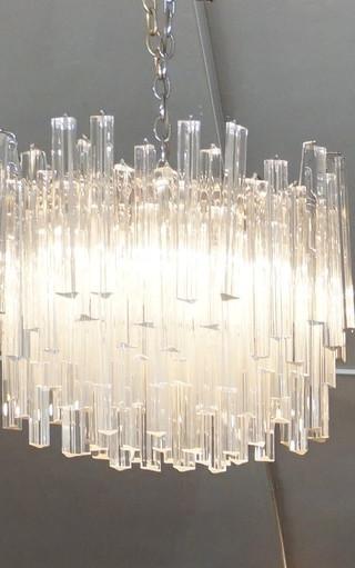 Venini Murano Crystal Chandelier