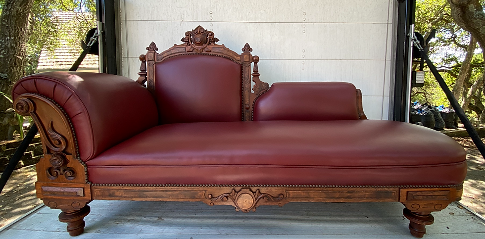 1880's Walnut Victorian Chaise