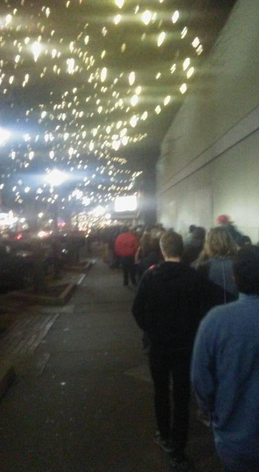 Line outside the Tech N9ne show Granada Lawrence