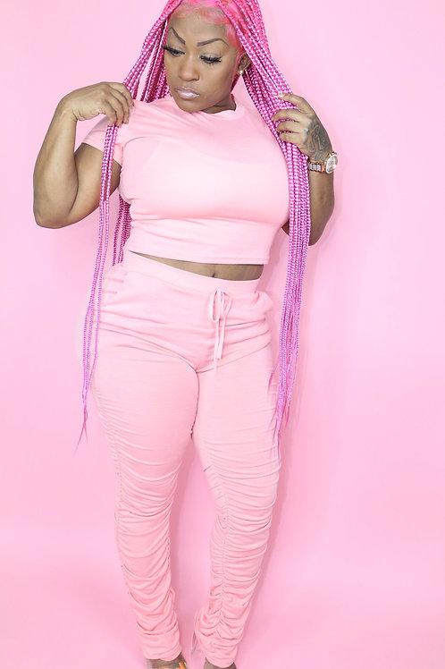 Pink stacked set