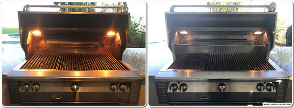 BEFORE - AFTER ALFESCO ALX2 gas bbq grill repair - gas bbq grill cleaning