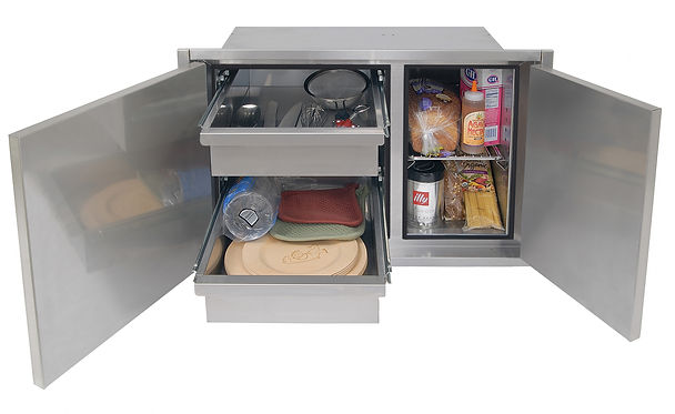 30 Inch Sealed Dry Storage Pantry Open N